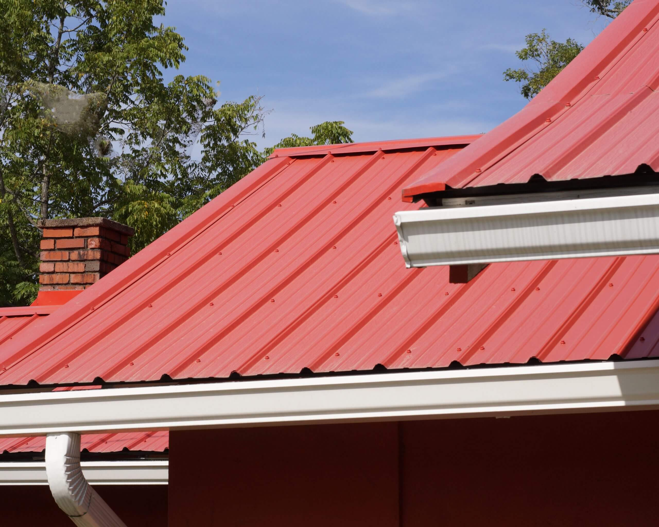 red metal roofing system
